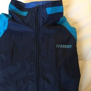 cee43b330311 Nike Jackets   Coats - Vintage Nike blue colorblock windbreaker jacket